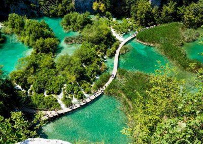 Os Lagos de Plitvice, na Croácia