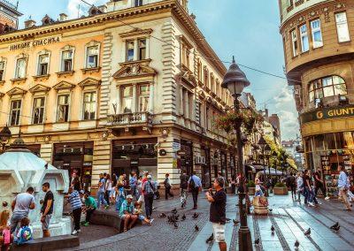 Rua pedonal/pedestre em Belgrado