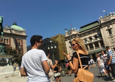 Passeio pelo centro de Belgrado