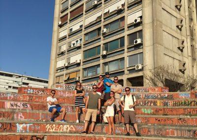 """A parte """"underground"""" de Belgrado, Sérvia"""