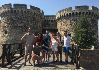 Entrada na Fortaleza de Kalemegdan, em Belgrado