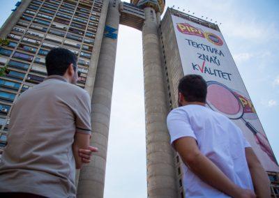 Torre Genex em Belgrado, um dos expoentes máximos da arquitetura brutalista na cidade