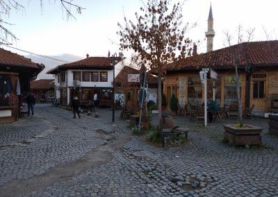 Bazar turco em Djakovica/Gjakove no Kosovo