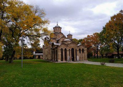 Mosteiro de Gracanica (Património da Humanidade) nos arredores de Pristina, Kosovo