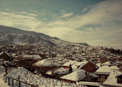 Sarajevo com neve, Bósnia