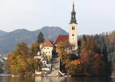 A ilha do Lago Bled, Eslovénia