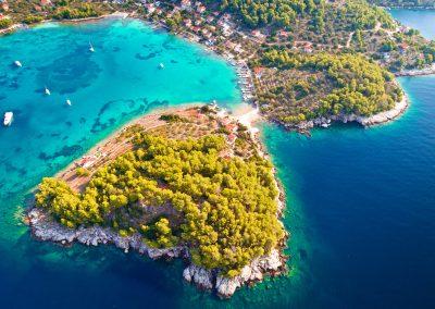 Baía de Gradina, Ilha de Korcula, Croácia