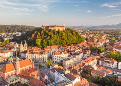 A cidade de Ljubljana, capital da Eslovénia