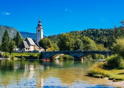 Igreja de São João no Lago Bohinj, Eslovénia