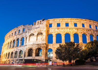 O Coliseu Romano de Pula, Croácia