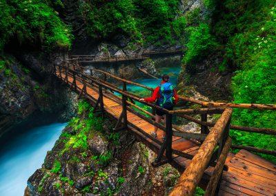 Desfiladeiro de Vintgar, nas proximidades do Lago Bled, Eslovénia