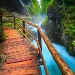 O desfiladeiro de Vintgat, perto do Lago Bled, na Eslovénia