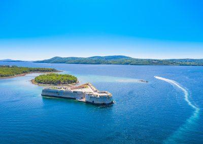 Forte de São Nicolau em Sibenik, Croácia