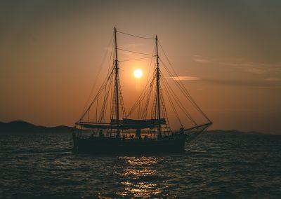 Pôr do sol no Mar Adriático, Croácia