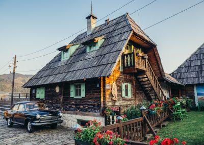 Casa típica sérvia Drvengrad