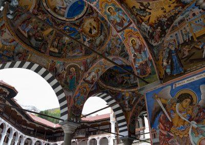Teto Mosteiro de Rila na Bulgária