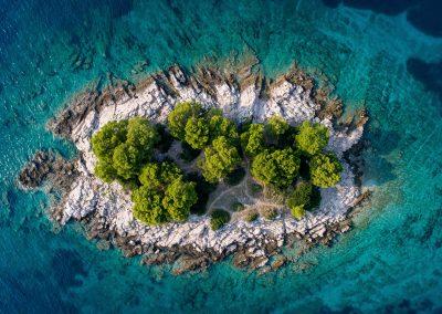 Ilhéu no Mar Adriático, Croácia