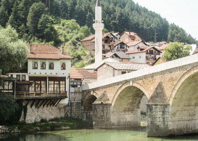 A vila de konjic na Bósnia