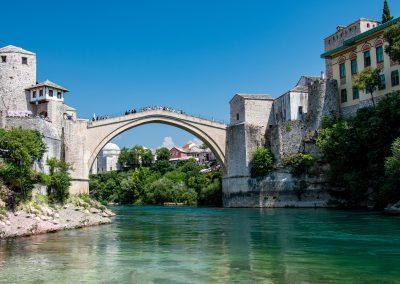A Ponte de Mostar na Bósnia e Herzegovina