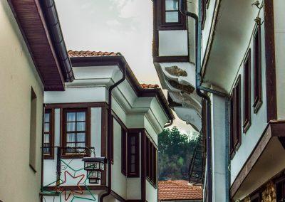 Casario típico em Ohrid (Património da Unesco), Macedónia