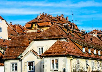 Telhados da cidade de Maribor, Eslovénia