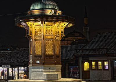 a fonte Sebilj em Sarajevo, Bósnia e Heregovina