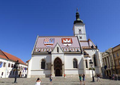Igreja de São Marcos em Zagreb, Croácia