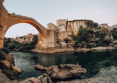 A ponte de Mostar - Património da Humanidade - na Bósnia