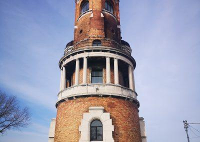 Torre de Gardos no bairro de Zemun. Belgrado, Sérvia